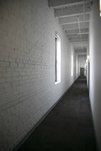 Exposed Brick hallway in Fix Play Lofts in Birmingham Alabama 35203