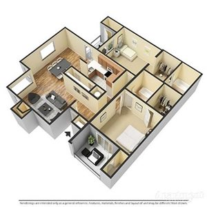 2 Bedrooms, 2 Bathrooms Deluxe