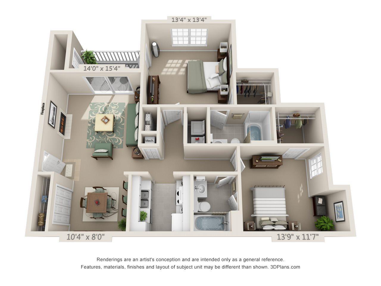 Georgetown Place Apartments Floor Plans: Floor Plans Of Georgetown Crossing In Savannah, GA