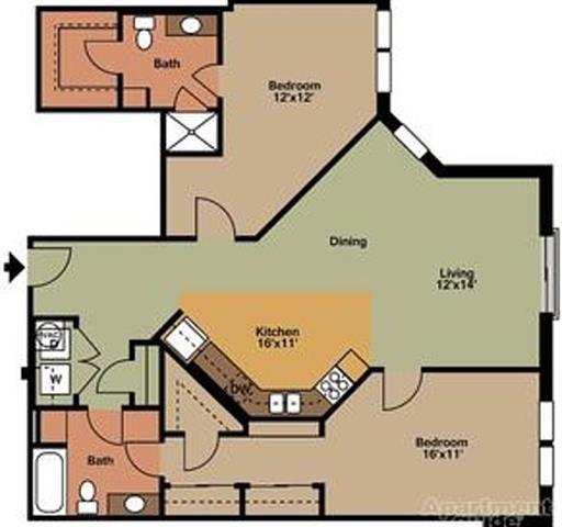 Floor Plans Of Vista Germantown In Nashville, TN