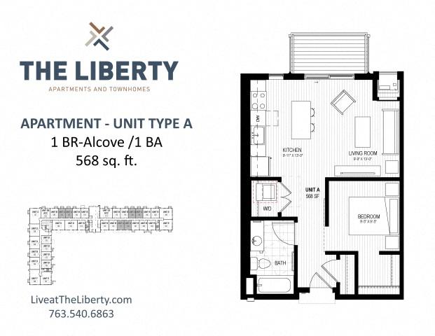 Studio, 1, 2 & 3 Bedroom Apartments in Golden Valley, MN ... on one bedroom home, bath townhouse floor plan, luxury townhouse floor plan, six bedroom townhouse floor plan, one kitchen floor plan,