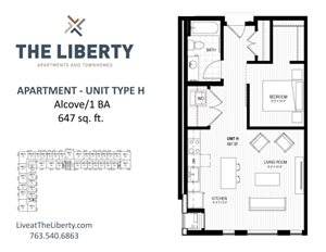 Floor plan at The Liberty Apartments & Townhomes, Golden Valley, MN