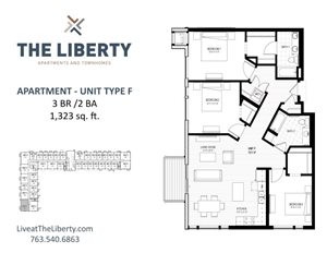 Floor plan at The Liberty Apartments & Townhomes, Golden Valley