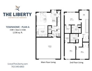 Floor plan at The Liberty Apartments & Townhomes, Golden Valley, 55427