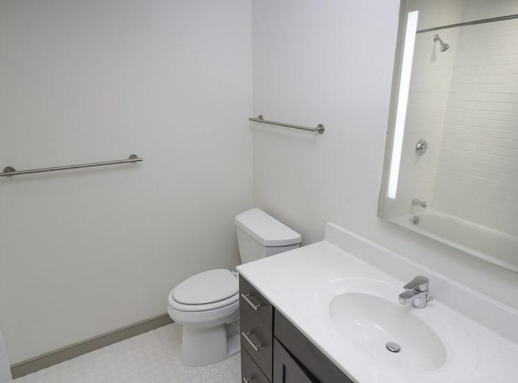 Bath at Axis Apartments in Hampton VA