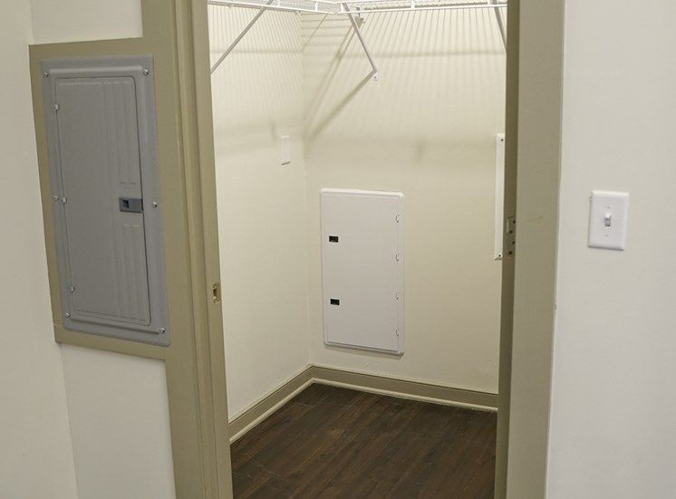 Closet at Axis Apartments in Hampton VA