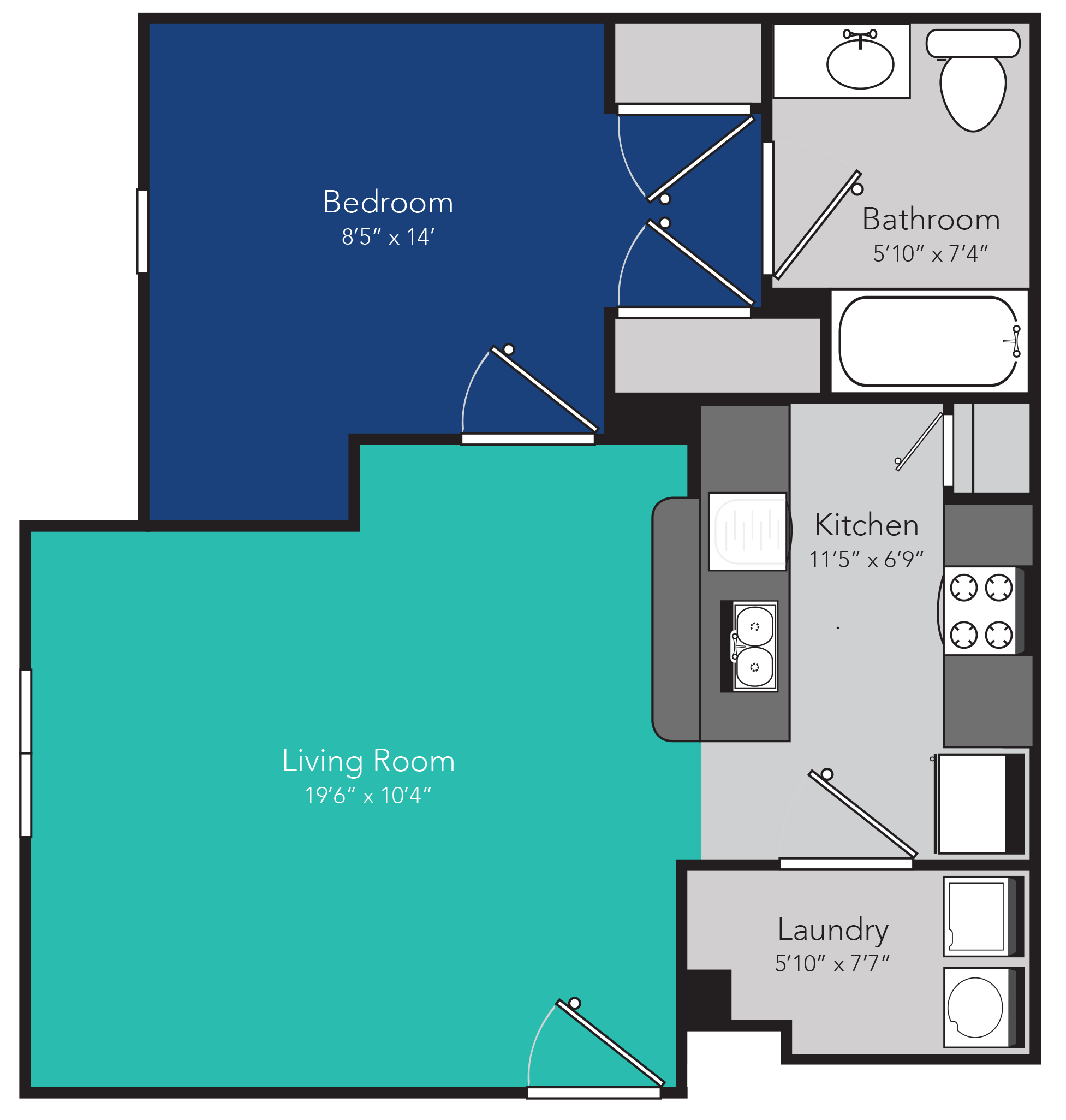 Hinesville ga apartments independence place floor plans - One bedroom apartments in hinesville ga ...