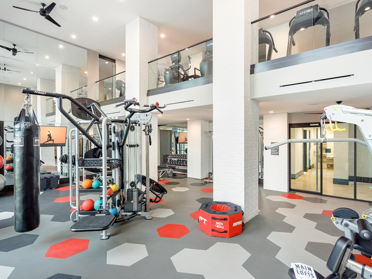 High-Tech Fitness Center at Main Street Lofts, Mansfield, 76063