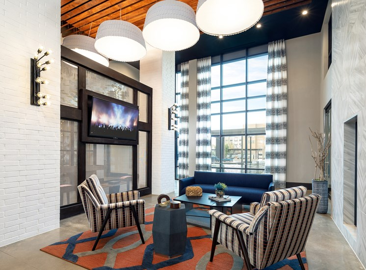 Relaxing Lounge with Game Room at Main Street Lofts, Texas