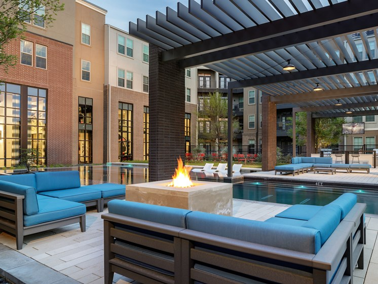 Cozy Outdoor Lounge  at Main Street Lofts, Mansfield, 76063
