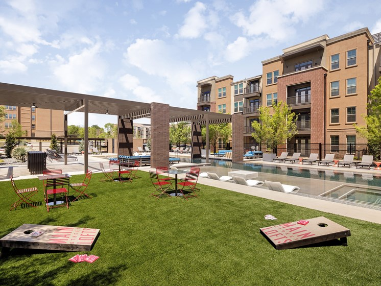 Relaxing Courtyard  at Main Street Lofts, Mansfield, 76063