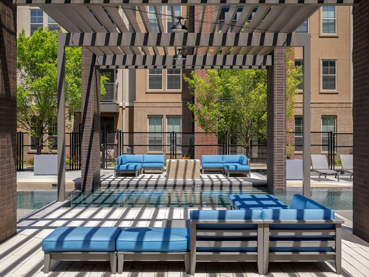 Relaxing Outdoor Lounge at Main Street Lofts, Mansfield, 76063