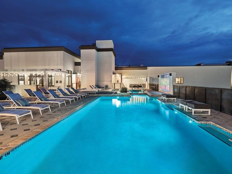 Glowing Pool at Avanti, St. Petersburg, FL, 33701
