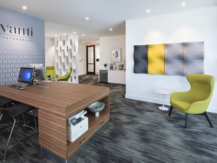 Brightly Decorated Leasing Office at Avanti, Florida, 33701