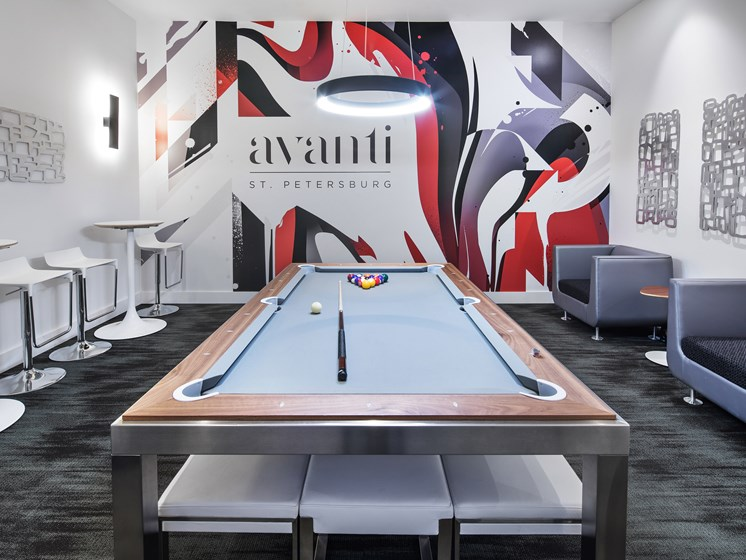 Recreation Room with Billiards Table at Avanti, St. Petersburg