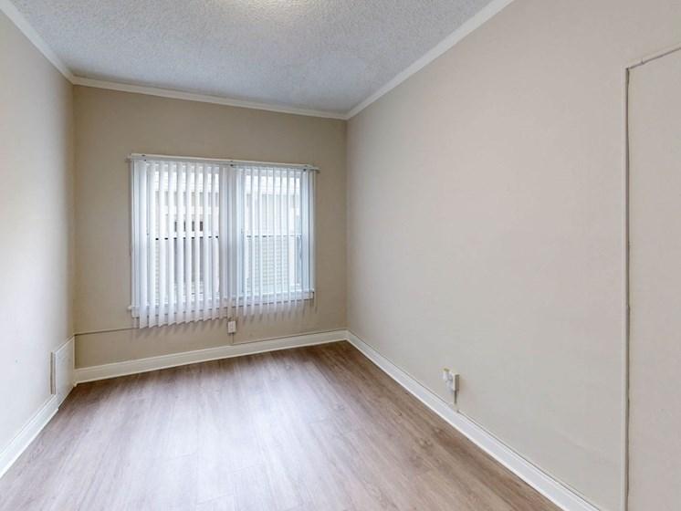 Bedroom Interior at Hobart Apartments, Los Angeles, California