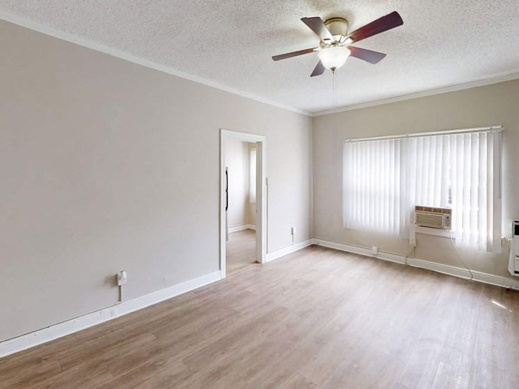 Living Room Interior at Hobart Apartments, Los Angeles