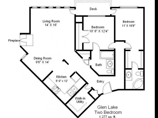 Glen Lake - 2 Bedroom Floor Plan 6