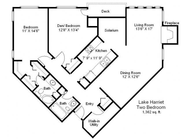 Lake Harriet - 2 Bedroom Floor Plan 8