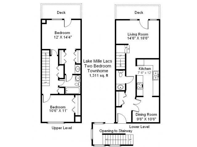 Lake Mille Lacs - 2 Bedroom Townhome Floor Plan 7