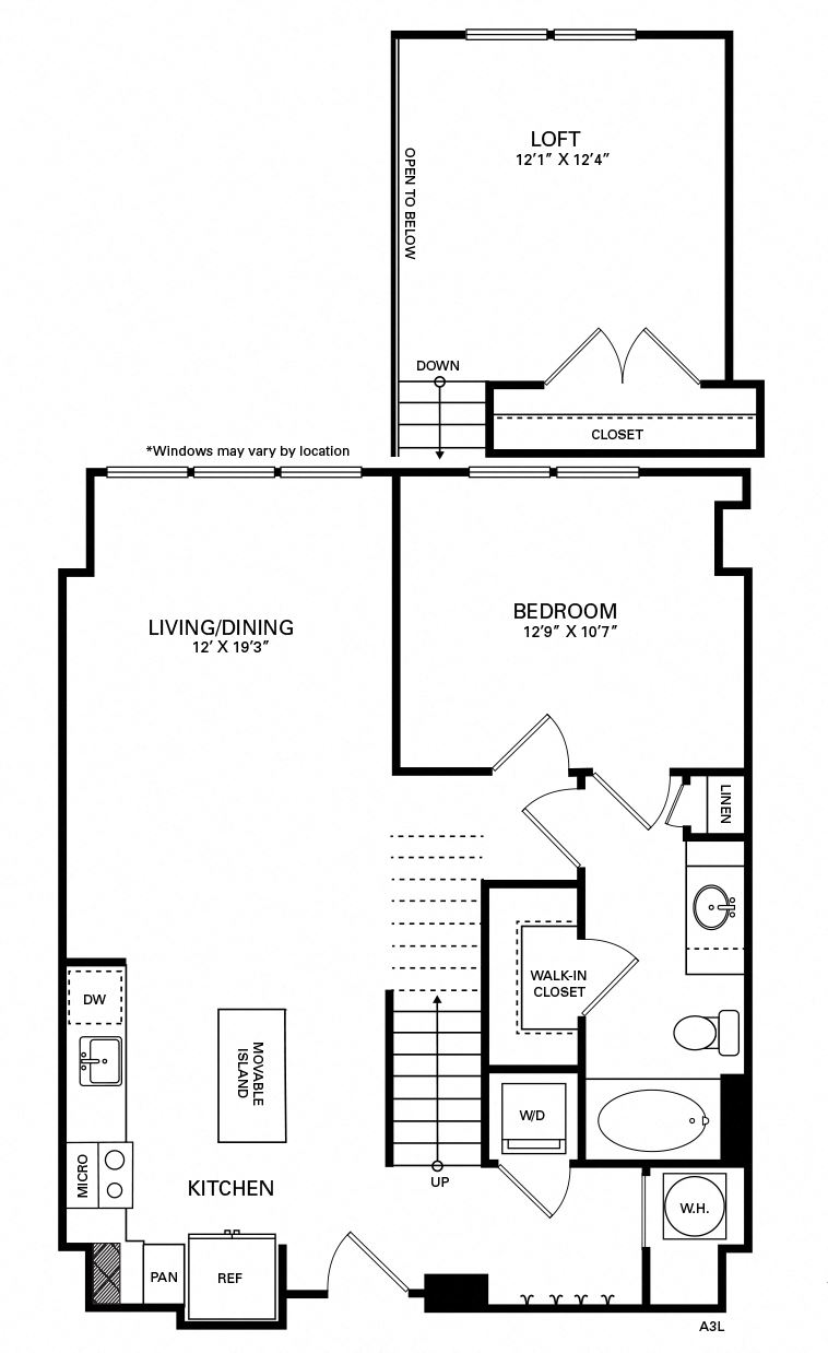 Carmichael Floor Plan at Berkshire Chapel Hill, Chapel Hill, North Carolina
