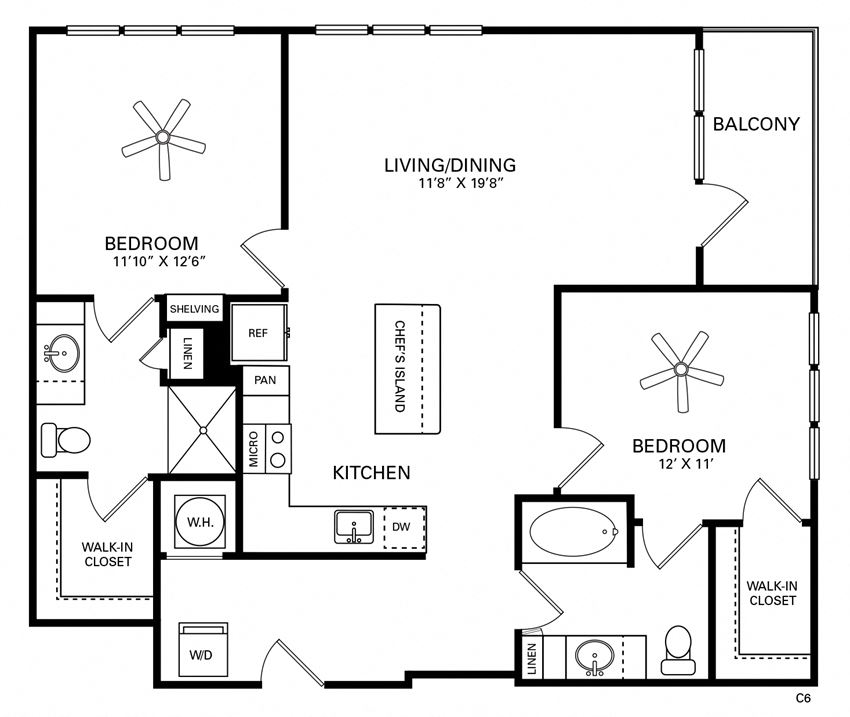 Forest Floor Plan at Berkshire Chapel Hill, Chapel Hill, NC