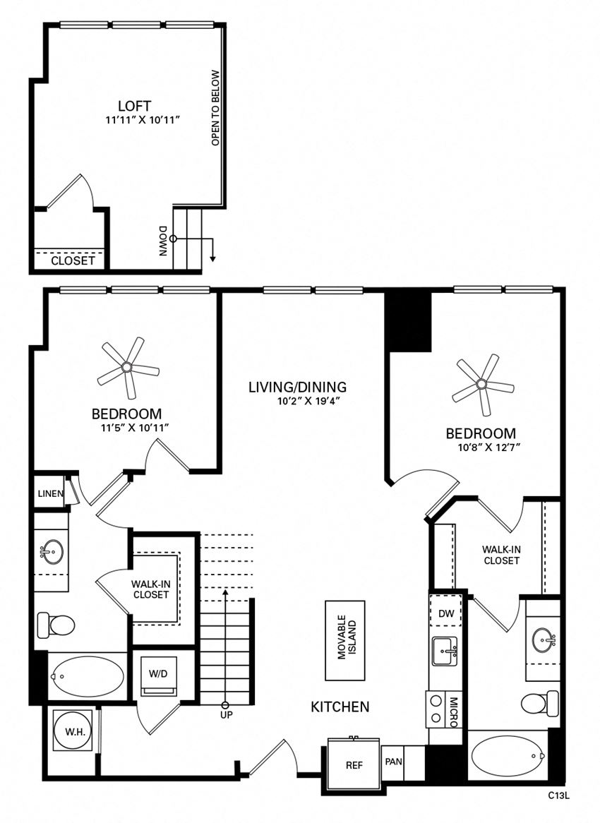 Lee Floor Plan at Berkshire Chapel Hill, Chapel Hill, NC