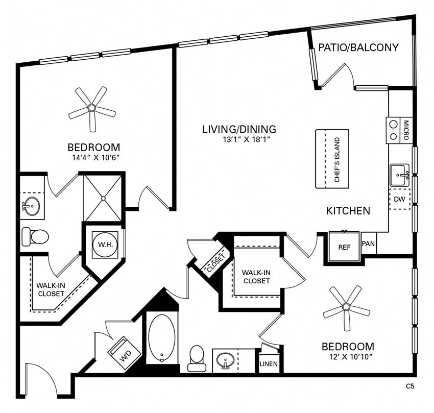 Lenoir Floor Plan at Berkshire Chapel Hill, Chapel Hill, North Carolina