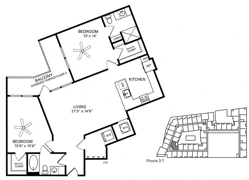 McCorkle Floor Plan at Berkshire Chapel Hill, North Carolina, 27514
