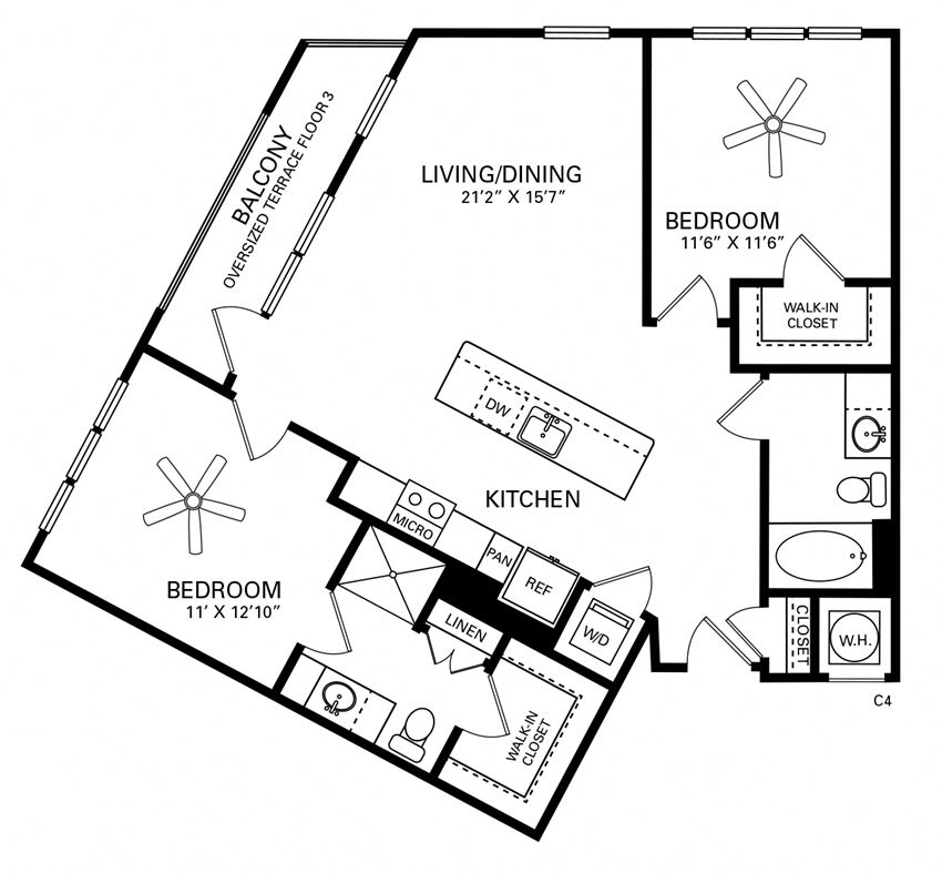 Moeser Floor Plan at Berkshire Chapel Hill, North Carolina, 27514