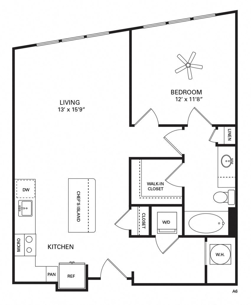 Poplar Floor Plan at Berkshire Chapel Hill, Chapel Hill, NC