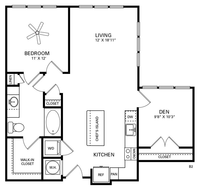 Rhodes Floor Plan at Berkshire Chapel Hill, North Carolina
