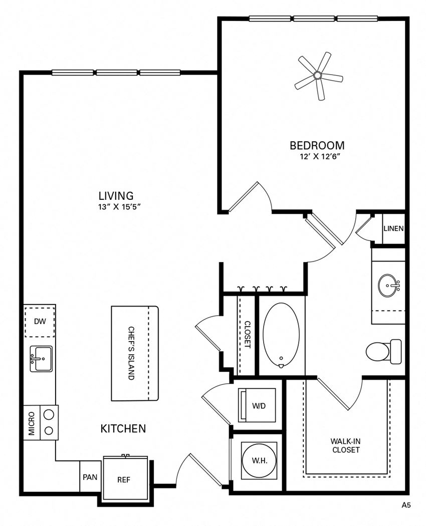 Smith Floor Plan at Berkshire Chapel Hill, Chapel Hill, North Carolina