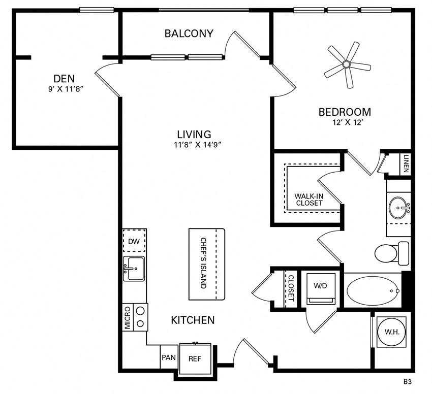 Wilson Floor Plan at Berkshire Chapel Hill, North Carolina, 27514