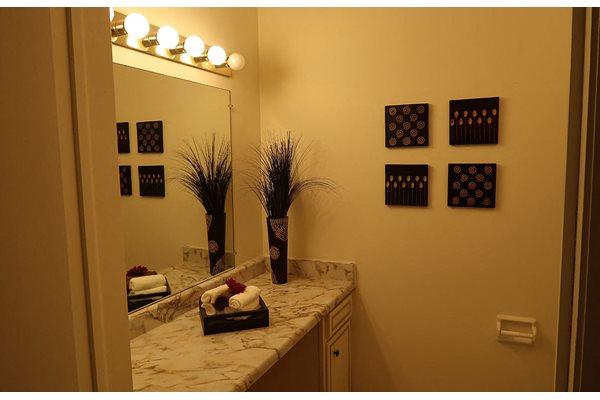 Master Bath Lighting at Mission Hills Apartments, Franklin