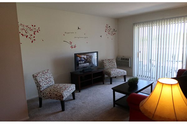 Living Room Television Space at Mission Hills Apartments, Wisconsin, 53132