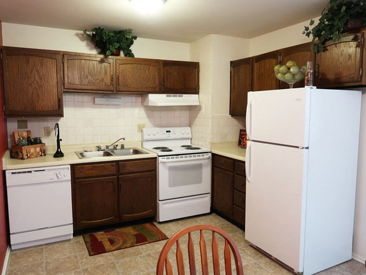 Kitchen at River Place Apartments in Milwaukee Wisconsin