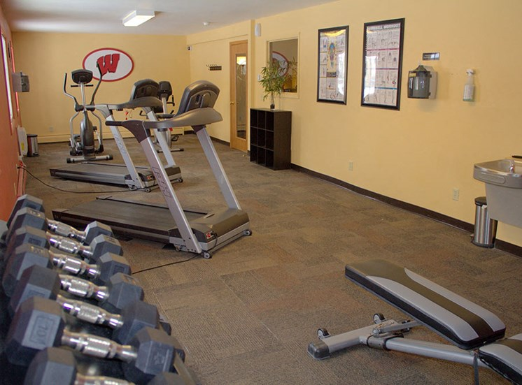 Fitness Center open from 5am-9pm at Springtree Apartments, Middleton