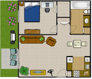 One Bedroom—1BLG
