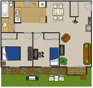 Two Bedroom—2BLG