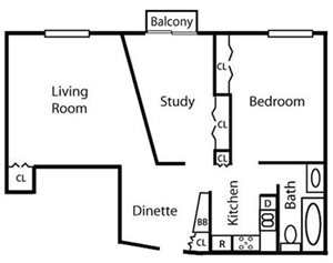 One Bedroom—1BRD