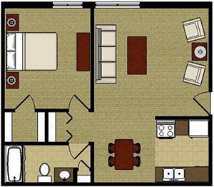 The Maple—One Bedroom