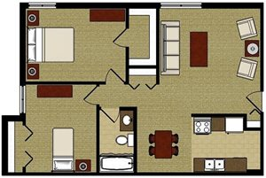 The Oak—Two Bedroom