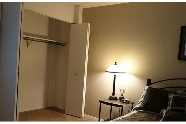 Walk-in-closets at The Meadows Apartments, Wisconsin, 53714