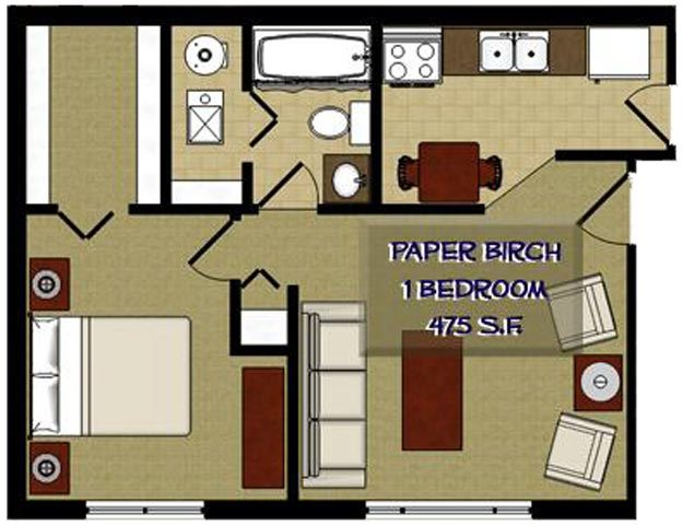The Birches Apartments | Studio, 1, 2 & 3 Bedroom Floor Plans