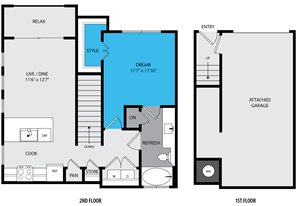 a4 Floor Plan at Venue at the Promenade, 6200 Castlegate West, Castle Rock, CO