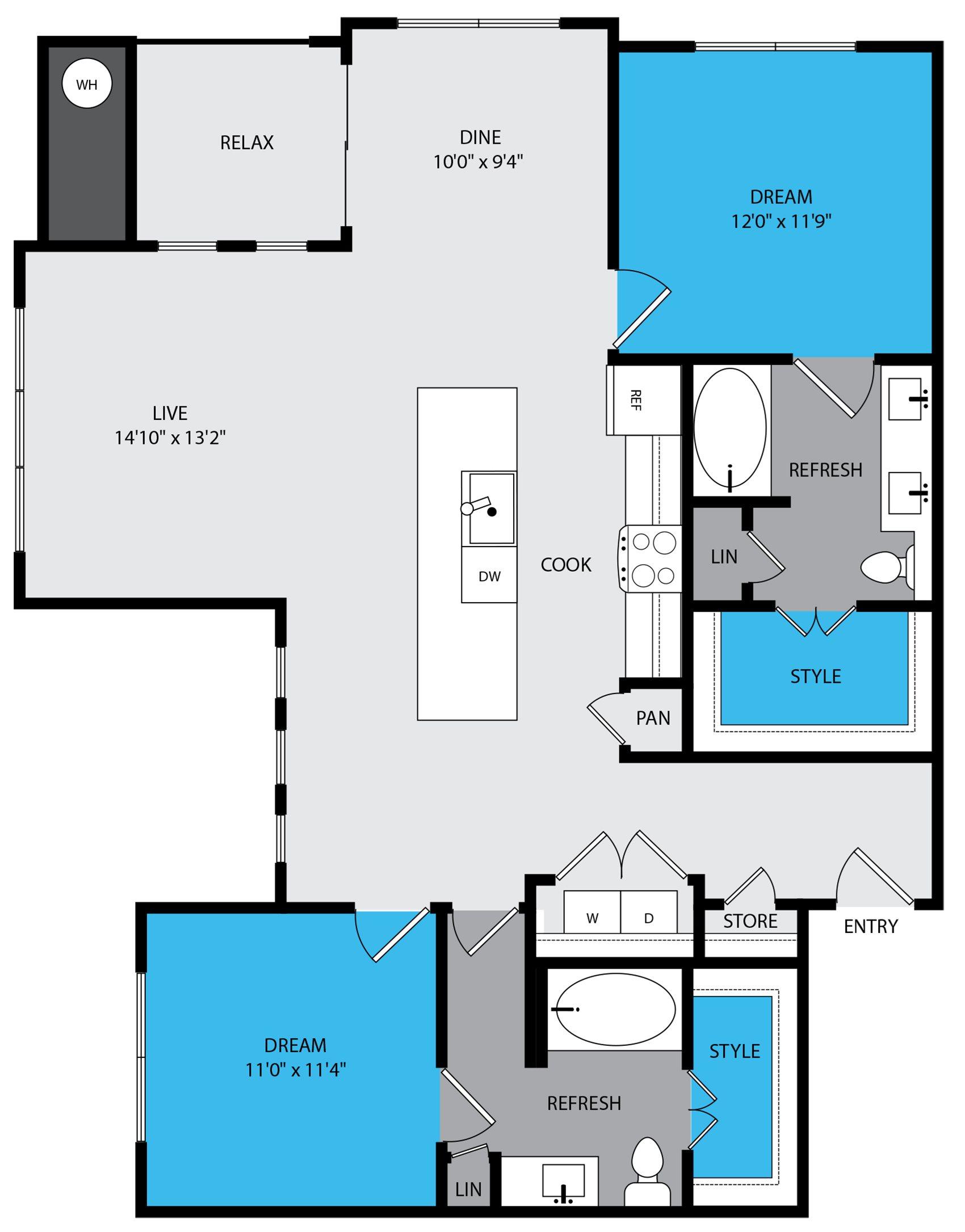 b3 Floor Plan at Venue at the Promenade, Castle Rock, 80108
