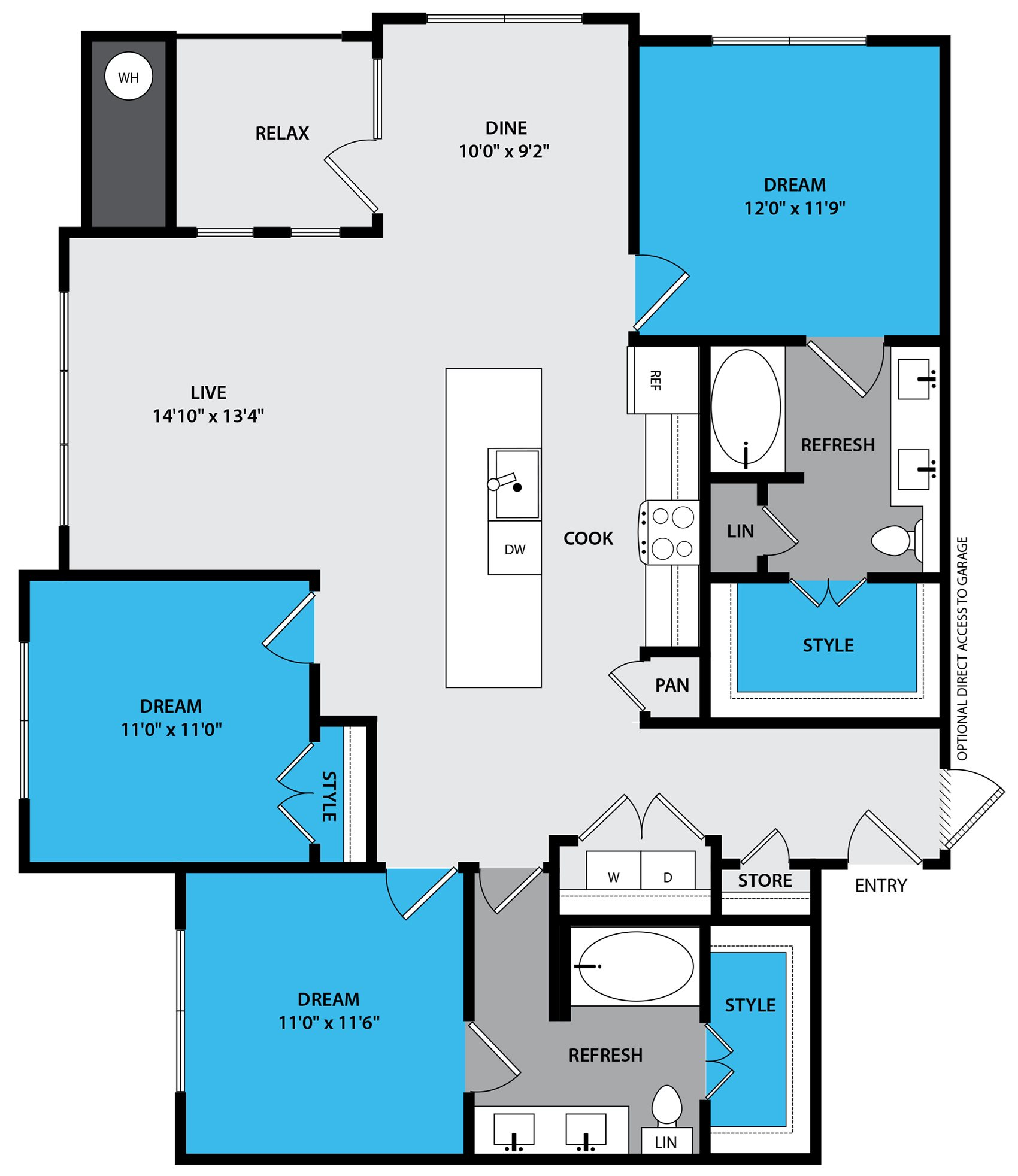 c1 Floor Plan at Venue at the Promenade, CO 80108