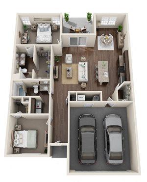 Willowood- 2 Bed, 2 Bath, Den, 2-Car Garage