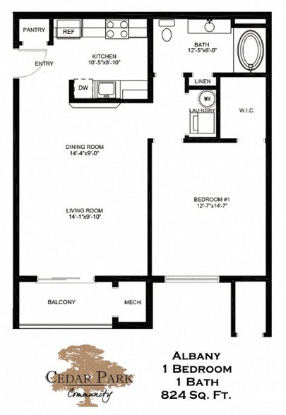 Albany Floor Plan 1
